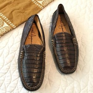 Martin Dingman Brown Leather Loafers Size 9